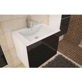 MASON BL 13 mosdó alatti szekrény magas fényű fehér - fekete színben
