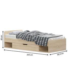 TEYO 1S/90 ágy sonoma tölgy színben
