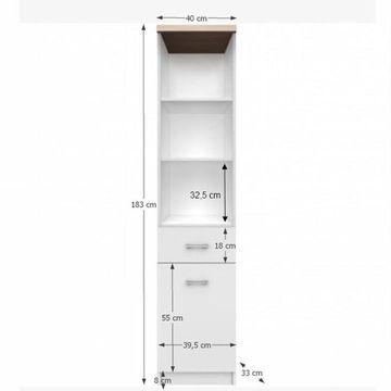 TOPTY 1D1S szekrény fehér - sonoma tölgy színben