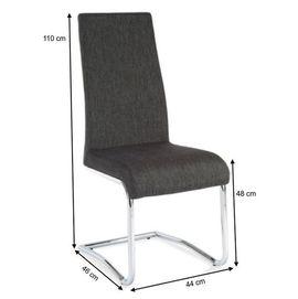 Amina szék - sötétszürke