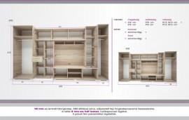 Andorra szekrénysor 410 cm