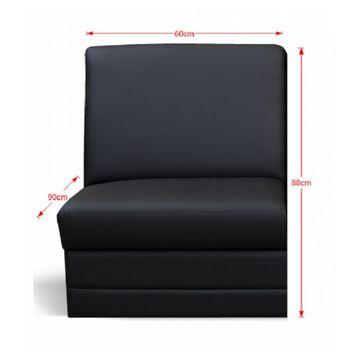 BITER 1 BB 1-es ülés fekete textilbőrrel