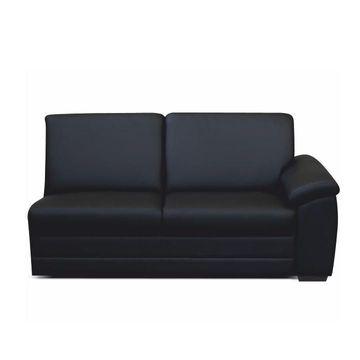 BITER 3 1B luxus luxus ülőgarnitúra 1-es elem fekete textilbőrrel - jobbos állásban