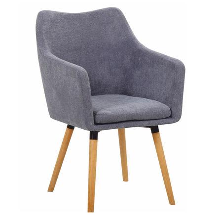 DABIR Étkező fotel, szürke anyag/bükk