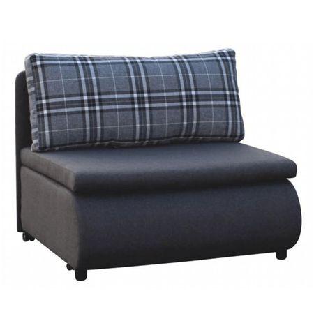 KENY NEW - Kinyitható fotel, szürke/minta kocka