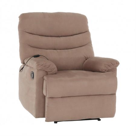 LAMBERT - Állítható masszázs fotel, fekete bársony anyag