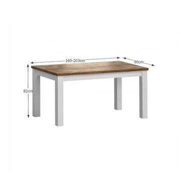 PROVANCE STD összecsukható asztal sosna andersen - tölgy színben