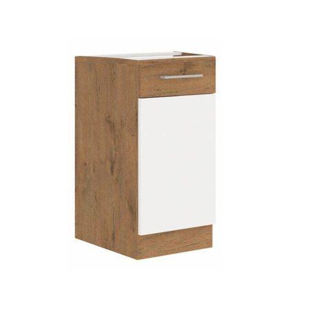 Alsó szekrény, lancelot tölgy/ fehér extra magas fényű HG, VEGA D40 1F BB