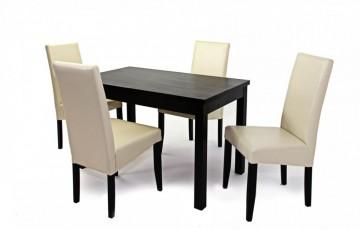 Berta étkező garnitúra, Berta asztallal, és 4 db Berta székkel + Ajándék csúszófilc a garnitúrához