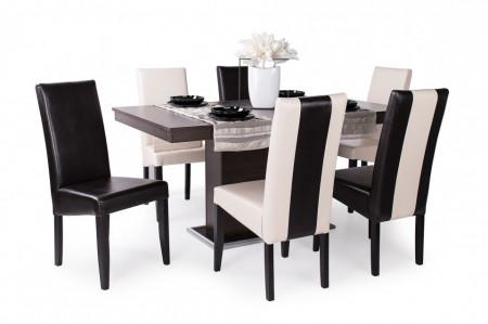 Berta Mix étkező Flóra asztal + 6db Berta Mix szék
