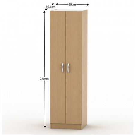 BETTY 2 BE02-004-00 - 2 ajtós akasztós szekrény, bük