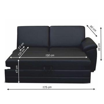 BITER 3 1B luxus ülőgarnitúra elem fekete textilbőrrel