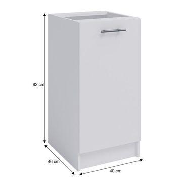 FABIANA S-40 alsó szekrény fehér színben