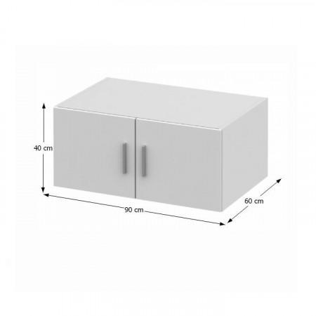 INVITA TYP 9 - Felsőszekrény szekrényhez, fehér