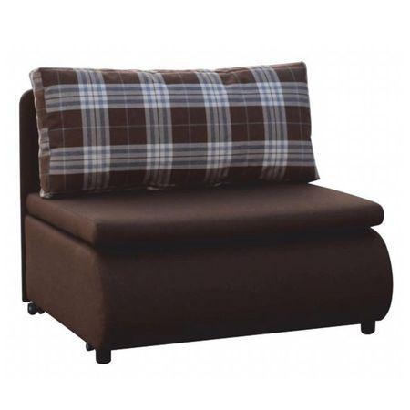 KENY NEW - Kinyitható fotel, barna/káró minta