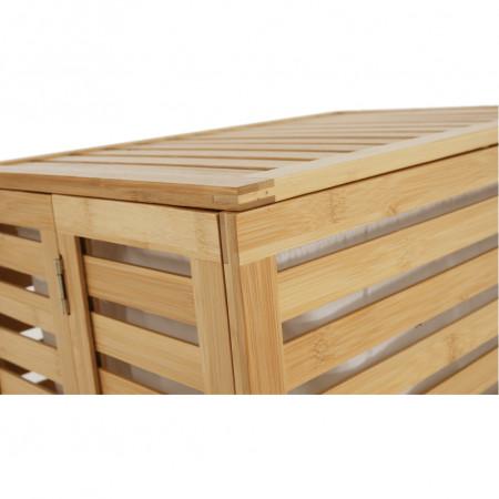 MENORK - Szennyeskosár, natúr bambusz/fehér