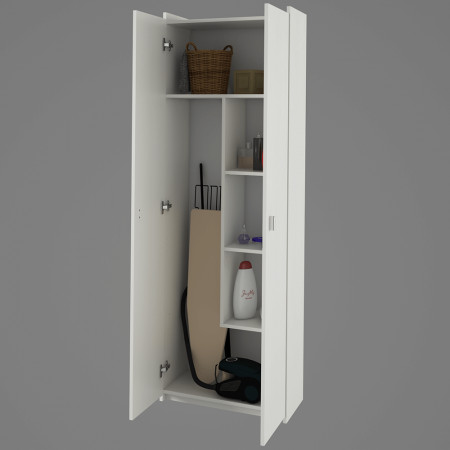 NATALI TIP 6 - Kombinált szekrény DTD laminált, fehér,
