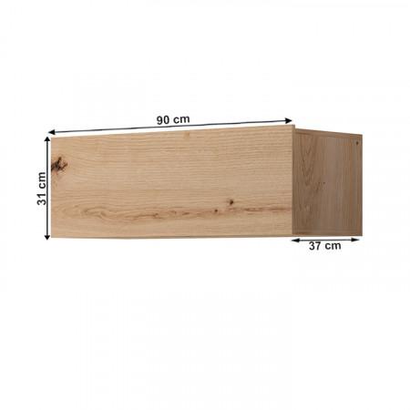 SPRING ED90 - Faliszekrény, tölgy artisan