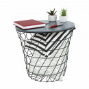 BATIS TYP 1 - kisasztal, grafit/fekete