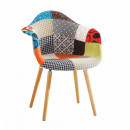 KADIR NEW TIP 1 - Fotel, anyag patchwork/bükk