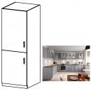 LAYLA D60R - Magas szekrény, szürke matt/fehér, bal