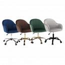 Velvet anyag kék/króm, EROL - Irodai szék