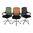 IMELA TYP 2 - Irodai szék, fekete/króm