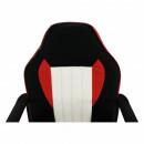 MALIK NEW - Irodai fotel, fekete/piros/bézs