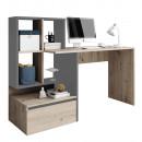 PC asztal, artisan tölgy/grafit-antracit világos, NEREO