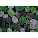 PEBBLE TYP 1 - Szőneg, zöld/szürke/fekete, 140x200