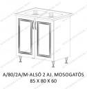 Akciós sarokkonyha - Alsó 2 ajtós 80 cm mosogatótálcás konyha elem