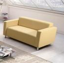 HOMKER textilbőr kanapé krém színben - 140 cm
