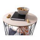 NANCER TYP 2 - kisasztal, természetes/fekete