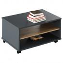 RIOMA NEW TYP 32 - Dohányzóasztal, grafit/tölgyfa artisan