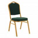 ZINA 3 NEW - Rákásolható szék, zöld/zöld festés