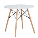 DEMIN - Étkezőasztal, fehér/matt/bükk