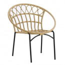 Kerti szék, természetes/fekete, ELDIA