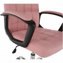 RULIS - Irodai szék, rózsaszín textilbő