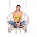 AMADO 2 NEW - Függő szék, pamut+fém/fehér