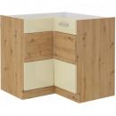 Artisan konyhabútor 89 x 89 DN 1F BB Artisan tölgy - Magasfényű krém eleme