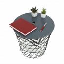 BATIS TYP 3 - kisasztal, grafit/fekete