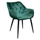 Velvet anyag, FEDRIS - Dizájnos fotel, zöl