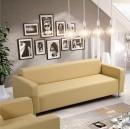 HOMKER textilbőr kanapé krém színben - 205 cm