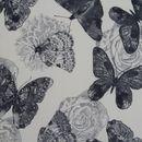 ASTRID fotel és puff pillangó mintás szövettel