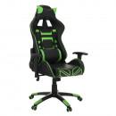 BILGI - Irodai/gamer fotel, fekete/zöld