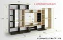 Komfort nappali szekrénysor 405 cm
