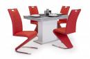 Lord étkező Flóra asztal + 4db Lord szék Piros fehér öszeállítás