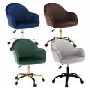 Velvet anyag világosszürke/fekete, EROL - Irodai szék