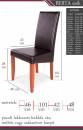 Berta szék méretek