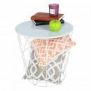 ENPLO - kisasztal, márvány/fehér